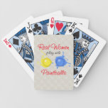 Real Women Play with Paintballs Lace Playing Cards