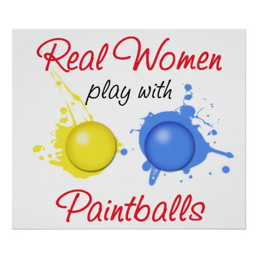 Real Women Play with Paintballs Print