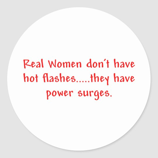 Real Women...Power Surges Sticker