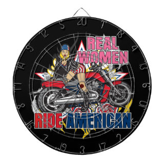 Real Women Ride American Motorcycles Dart Board