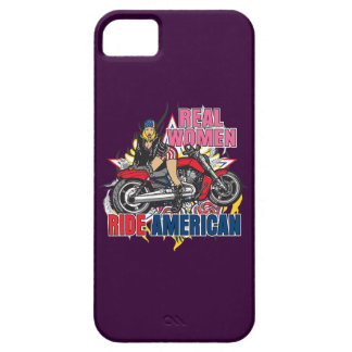 Real Women Ride American Motorcycles iPhone Case iPhone 5 Cases