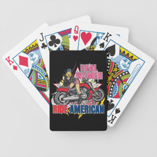Real Women Ride American Playing Cards