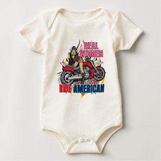 Real Women Ride American Baby Bodysuits