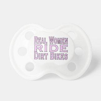 Real Women Ride Dirt Bikes Pacifier