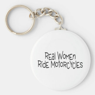 Real Women Ride Motorcycles Basic Round Button Keychain