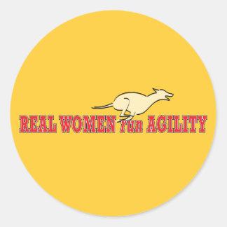 Real Women Run Agility Classic Round Sticker