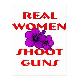 Real Women Shoot Guns Postcard