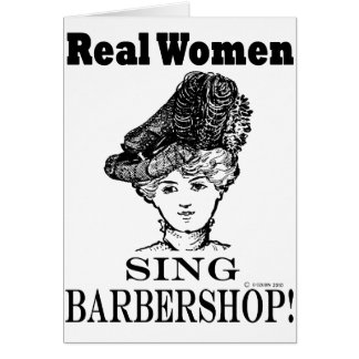 Real Women Sing Barbershop Card