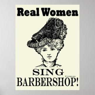 Real Women Sing Barbershop Poster