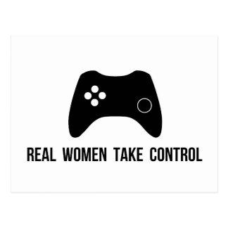 Real Women Take Control Postcard