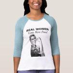 REAL WOMEN Vote Ron Paul Shirt blue T-shirt