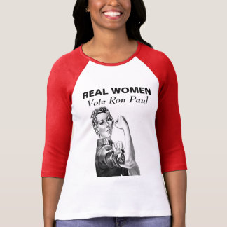 REAL WOMEN Vote Ron Paul Tees