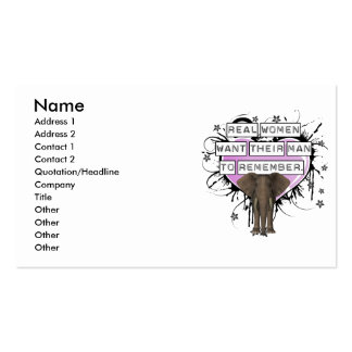 Real Women Want Their Man To Remember Double-Sided Standard Business Cards (Pack Of 100)