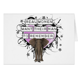 Real Women Want Their Man To Remember Stationery Note Card