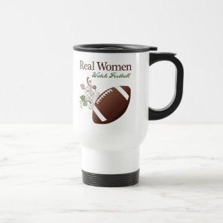 Real women watch football 15 oz stainless steel travel mug