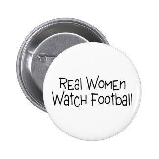 Real Women Watch Football 2 Inch Round Button