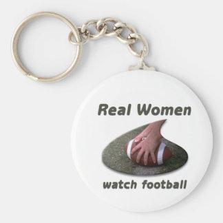 Real Women watch football #2 Key Chain