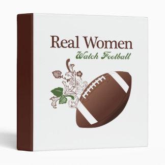 Real women watch football 3 ring binder