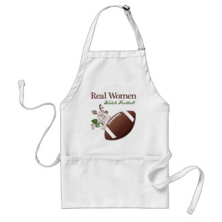 Real women watch football adult apron