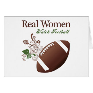 Real women watch football stationery note card