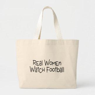 Real Women Watch Football Jumbo Tote Bag