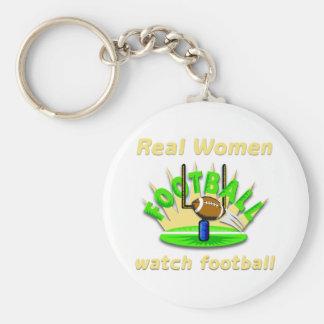 Real Women watch football Keychain
