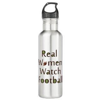 Real Women Watch Football Stainless Steel Water Bottle