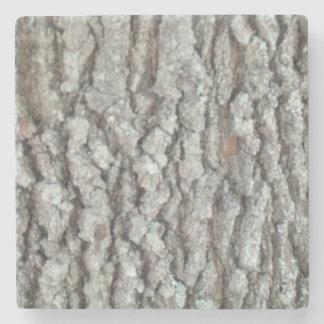 Real Wood Camouflage Oak Tree Bark Camo Stone Beverage Coaster