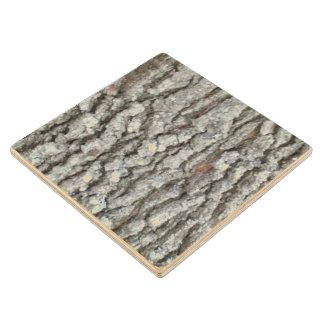 Real Wood Camouflage Oak Tree Bark Camo Maple Wood Coaster
