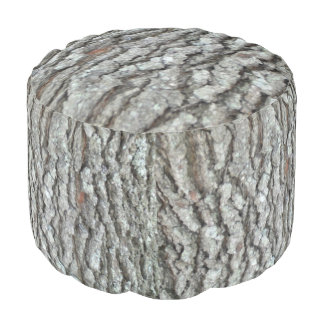 Real Wood Camouflage Oak Tree Bark Camo Pouf