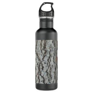 Real Wood Camouflage Oak Tree Bark Nature Camo Water Bottle