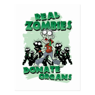Real Zombies Donate Organs Postcard