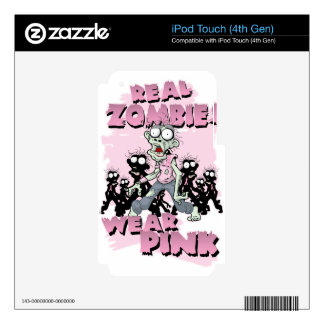 REAL Zombies Wear Pink iPod Touch 4G Decal