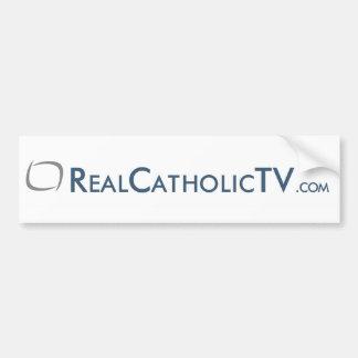 RealCatholicTV.com Pegatina De Parachoque
