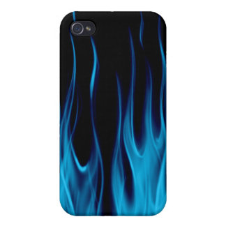 RealFlamesBLUE_board iPhone 4 Cover