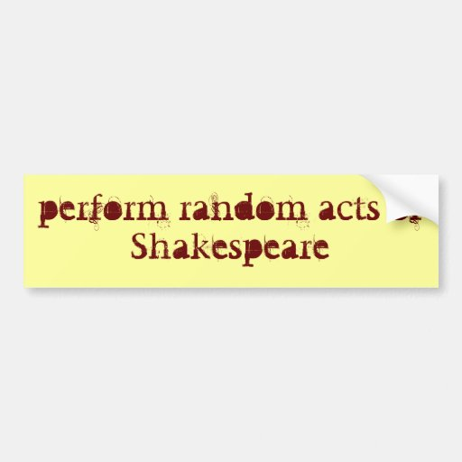 realice a Shakespeare Pegatina Para Auto