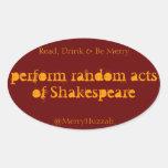 Realice los actos al azar del pegatina de Shakespe
