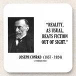 Realidad de Joseph Conrad como cita usual de la Posavasos De Bebida