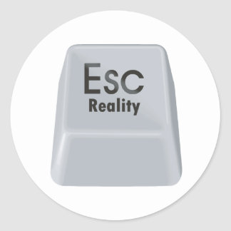 Realidad del escape pegatina redonda