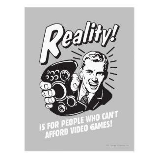 Realidad: No puede permitirse los videojuegos Tarjeta Postal