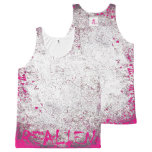 """REALIEN"" Pink Virus All-Over Print Tank Top"