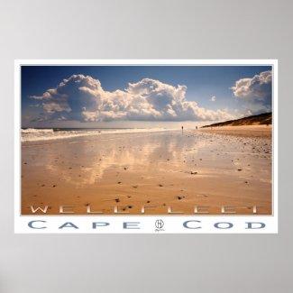 Wellfleet. Realism landscape posters. Wellfleet Cape Cod, realism beach posters.