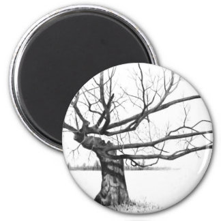 Realism Pencil Drawing 2 Inch Round Magnet