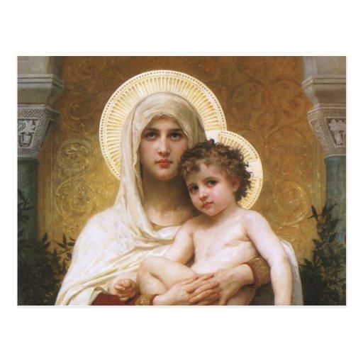 Realismo del vintage, Madonna de los rosas, Postal