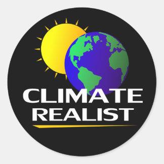 Realista del clima pegatina redonda
