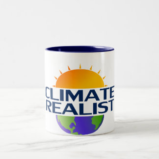 Realista del clima taza de café de dos colores