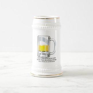 Realista del pesimista del optimista jarra de cerveza