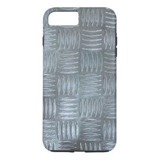 Realistic Aluminum Anti-Slip Sheet Texture Photo iPhone 8 Plus/7 Plus Case