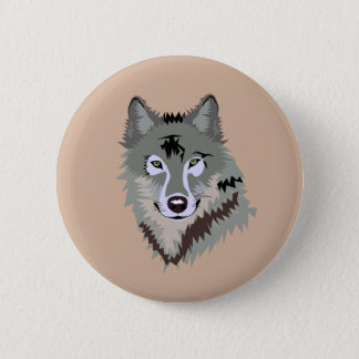 Realistic Animated Wolf Button