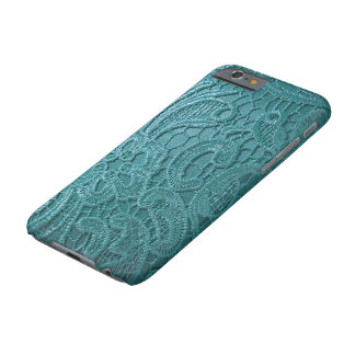realistic aqua satin lace phone Case Barely There iPhone 6 Case